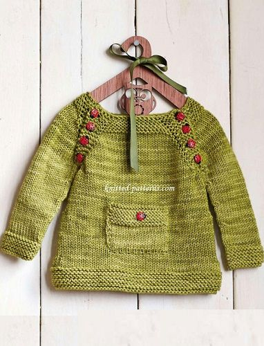 Pullover Ladybird On A Leaf Knitting Pattern Central Free