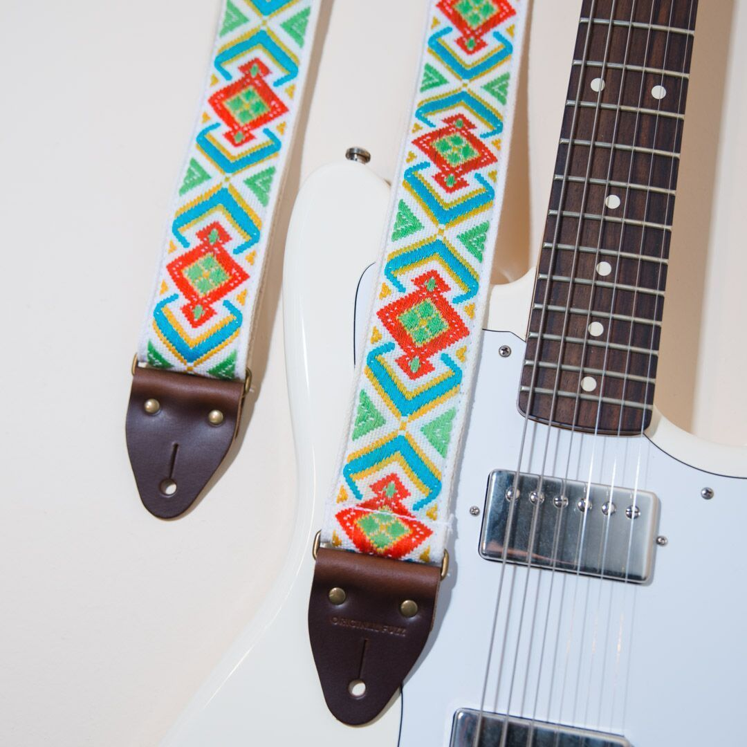 Here S The Popular Town Mountain Rd Guitar Strap From Our Vintage Series It S Made With Deadstock Guitar Strap Vintage Vintage Guitars For Sale Guitar Strap