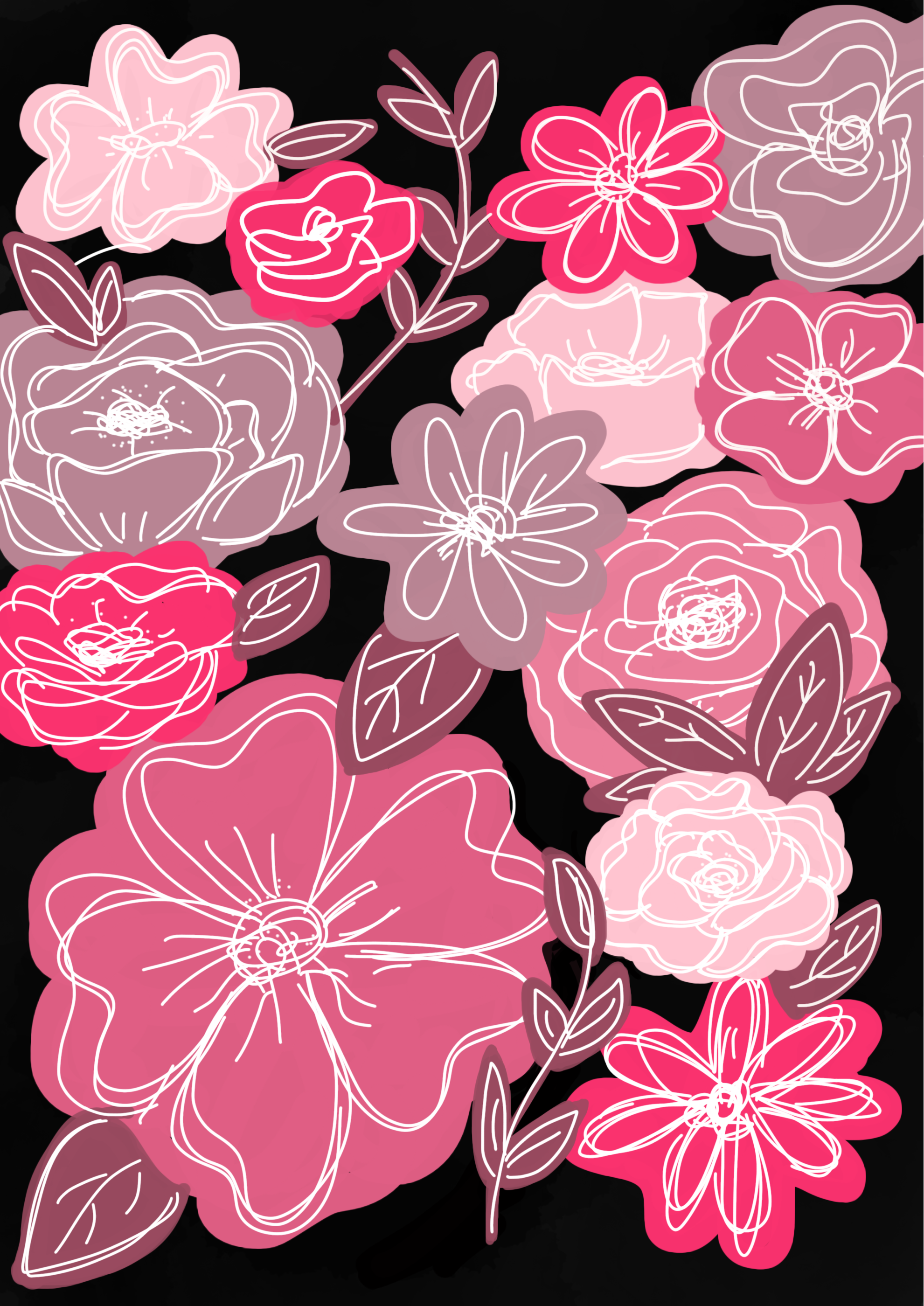 #fashion #diy #iphone #iphonewallpaper #flowers #floral #pink #aesthetic #vintage #drawing #sketch #ipad #handmade #pastel