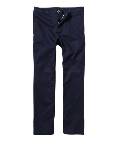 Take a look at this Black Chino Pants - Boys by DC on #zulily today!