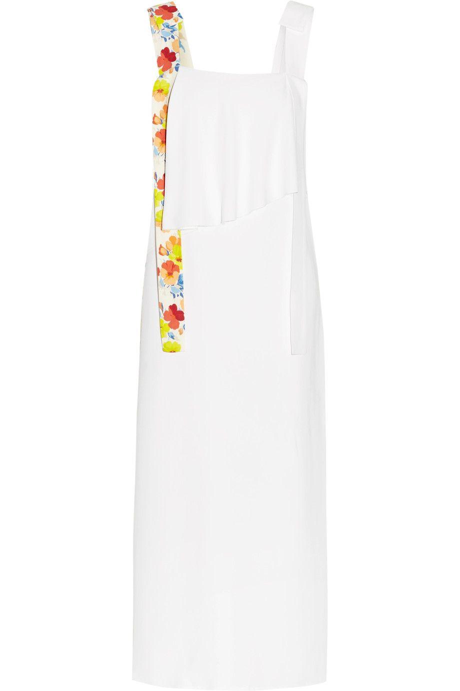 MSGM - Layered printed crepe midi dress