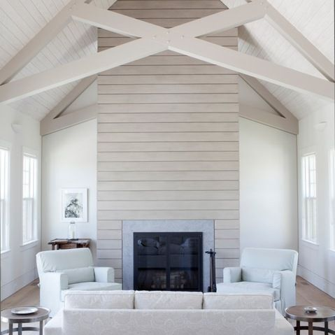 Tongue And Groove Vaulted Ceiling Home Design Ideas Pictures Remodel And Decor Fireplace Design House Design Great Rooms