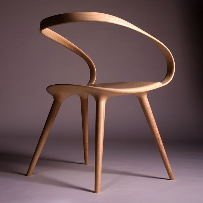 Highly aesthetic and unique furniture design made from ash for Industrial design chair