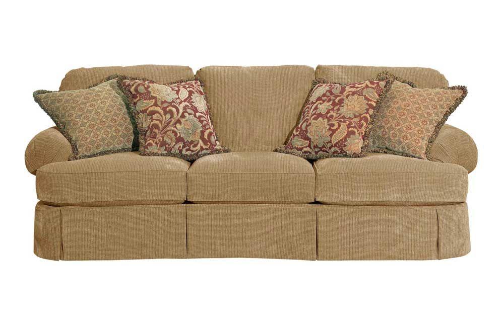 Broyhill Furniture Mckinney Skirted Sofa Knight Furniture