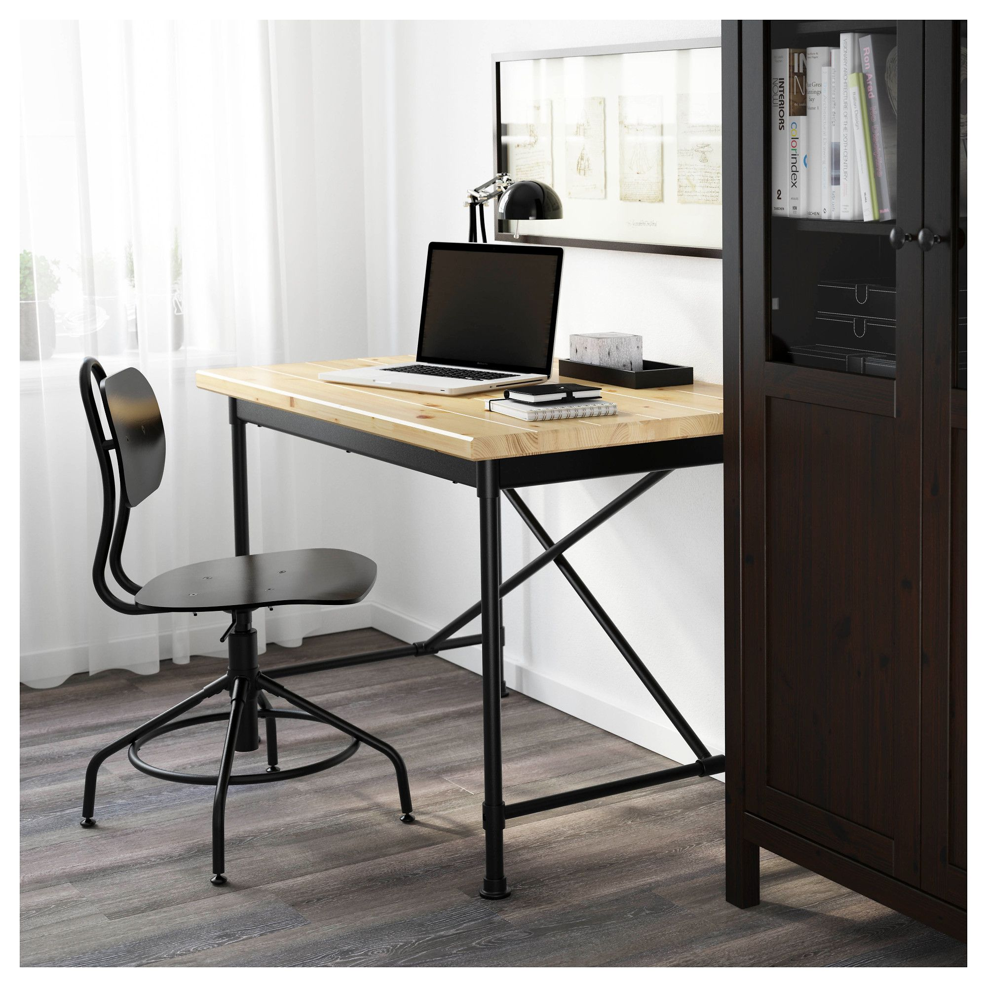 IKEA KULLABERG Pine, Black Desk Home office furniture