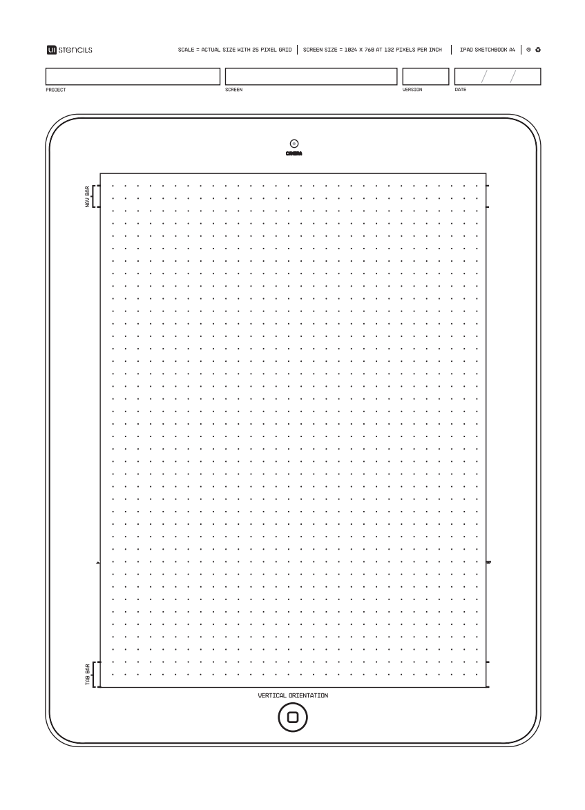 Free Able Ipad Wireframing Template A4 Size Design Theory User Interface