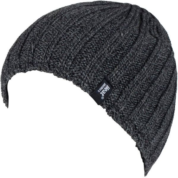 Men s Heat Holders Ribbed Knit Beanie ( 20) ❤ liked on Polyvore featuring  men s fashion 74e752d5587