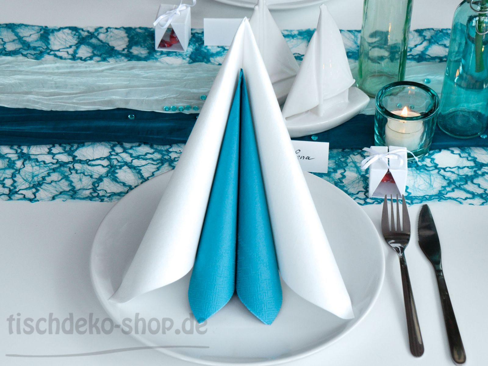 servietten in t rkis unf wei servietten pinterest kommunion erstkommunion und servietten. Black Bedroom Furniture Sets. Home Design Ideas