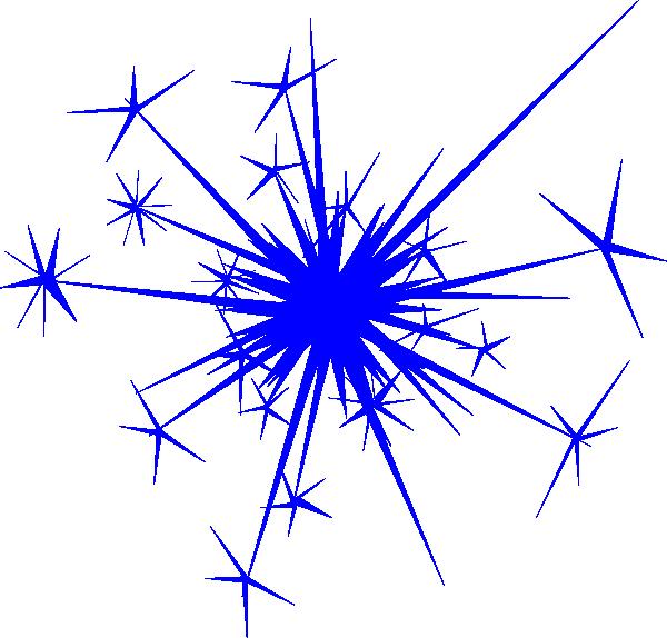 Firework blue. Clip art vector online