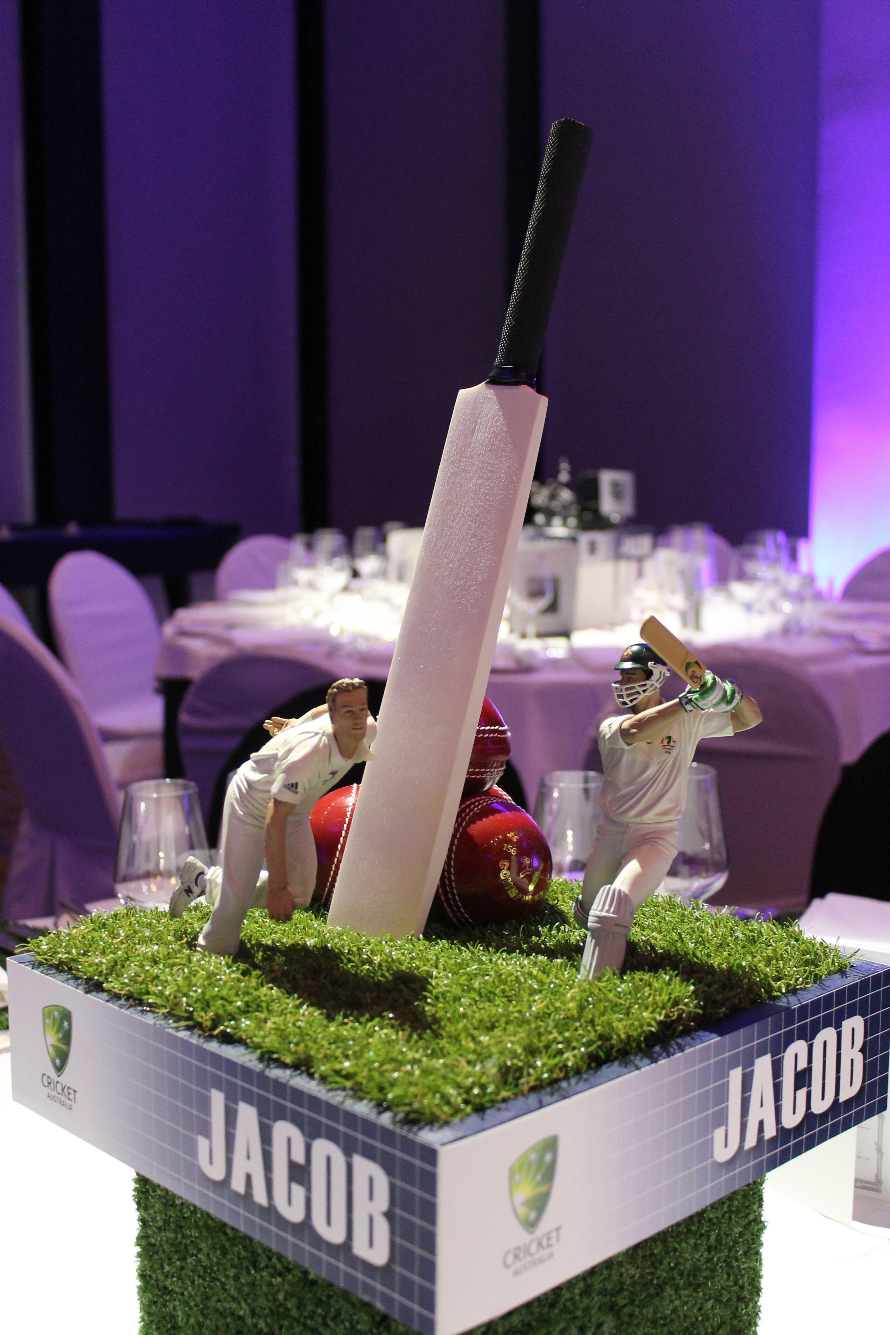 Cricket Centerpiece In 2019 Sports Birthday 60th
