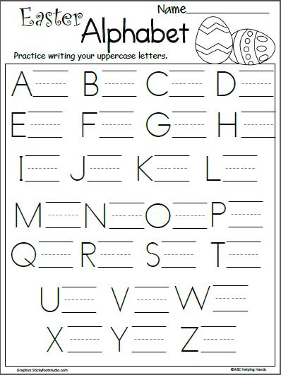 free easter letter writing practice kindergarten april letter writing worksheets. Black Bedroom Furniture Sets. Home Design Ideas