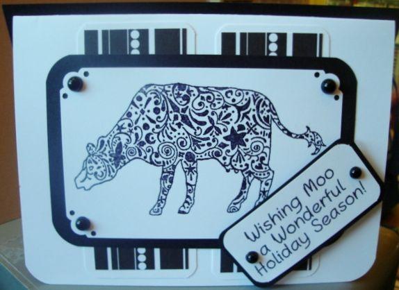 Door County Rubber Stamps   Cow