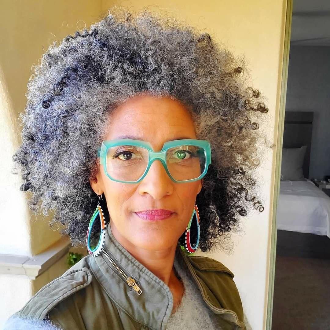 Chef carla hall in 2020 grey hair locs natural hair
