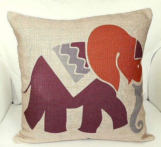 Elephant - Throw Pillows From Etsy