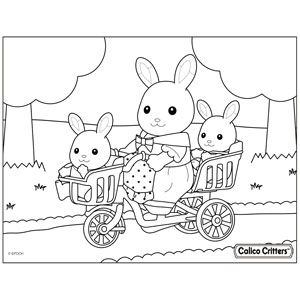 Coloring Calico Critters Family Coloring Pages Family Coloring Bunny Coloring Pages