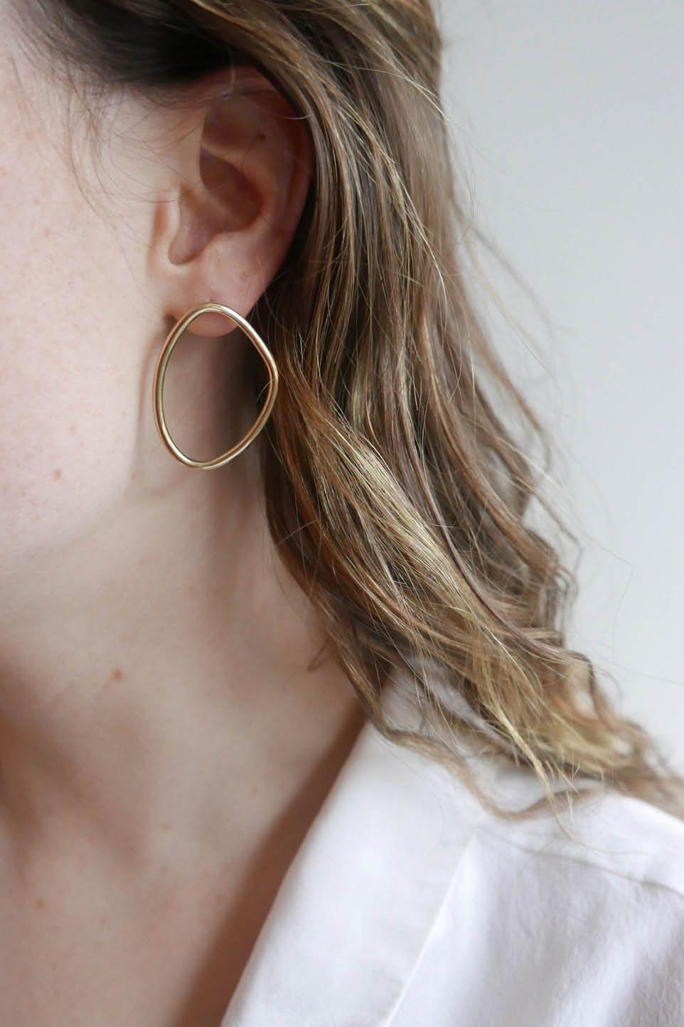 Petite Sabi Outline Studs | Ethical jewelry, Petite, Studs