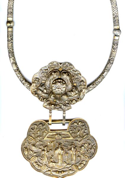 Collection  Miao silver Handmade Amulet pendant Longevity happiness