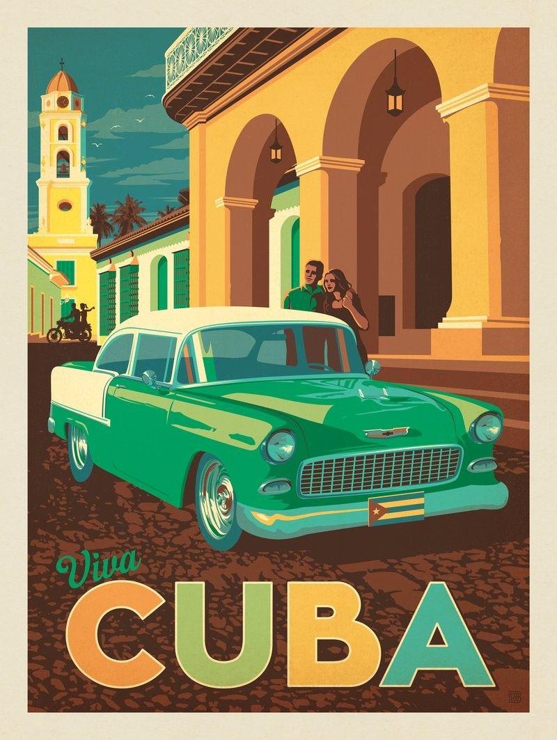 Anderson Design Group World Travel Cuba Retro Travel Poster Vintage Travel Posters Travel Posters