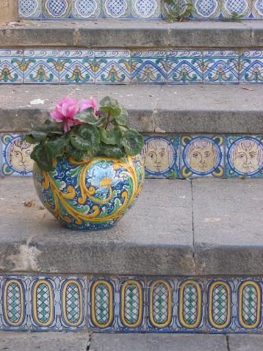 Caltagirone Scale Dipinte Piastrelle Dipinte Sicilia