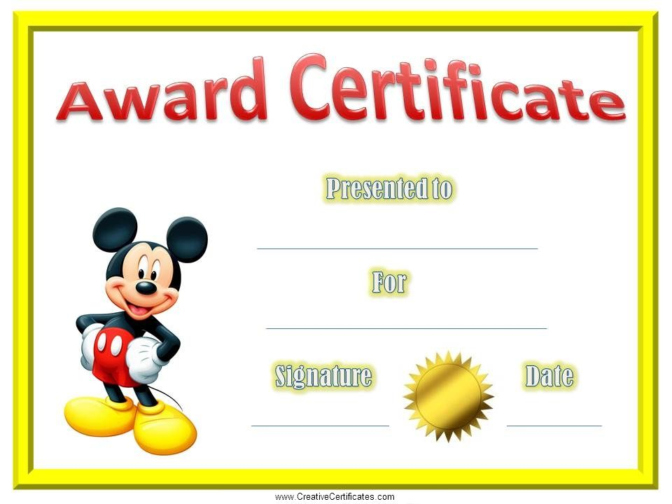 Certificate Template For Kids Certificates For Kids A A E E I I O