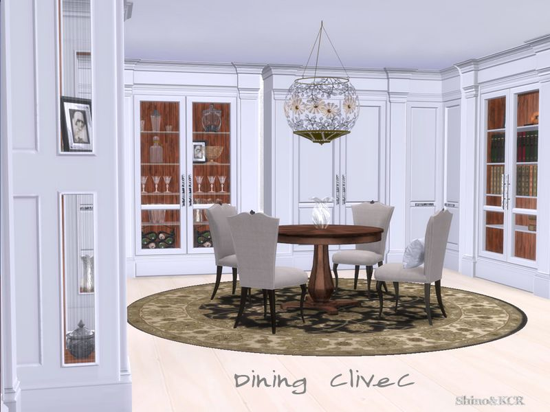 Contemporary Dining Room Inspired By Clive Christian London Found In TSR Category Sims 4