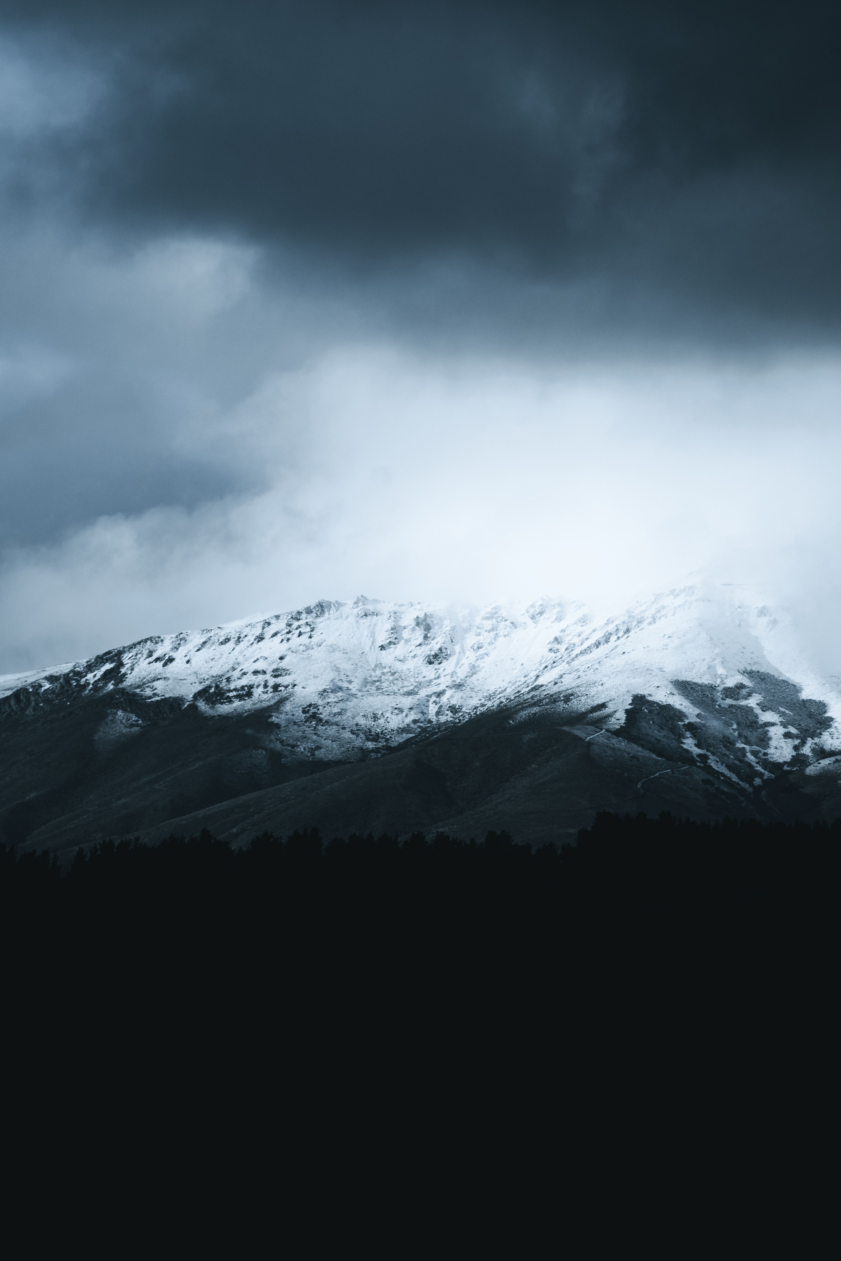Snow Mountain Cloud Cloudy Scenery Wallpaper Background Wallpaper