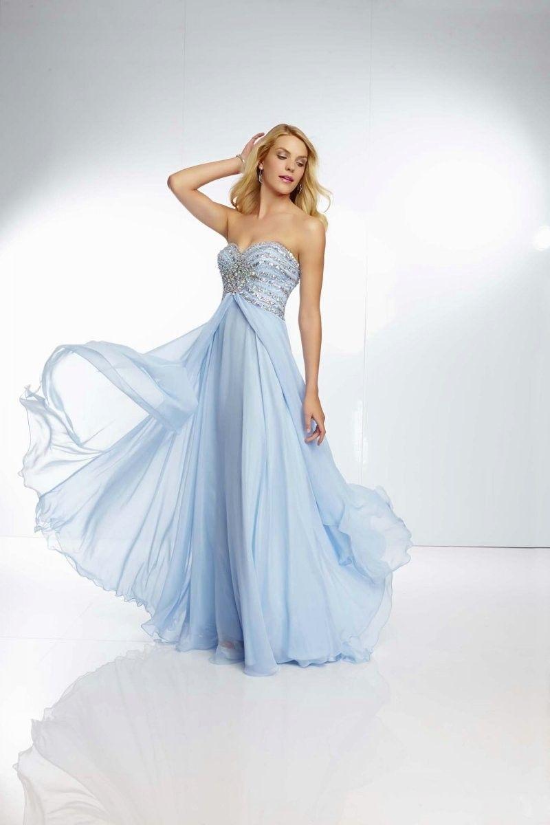 e413203780 Blue Sweetheart Chiffon Evening Military Ball Dress  fashion  socialbliss