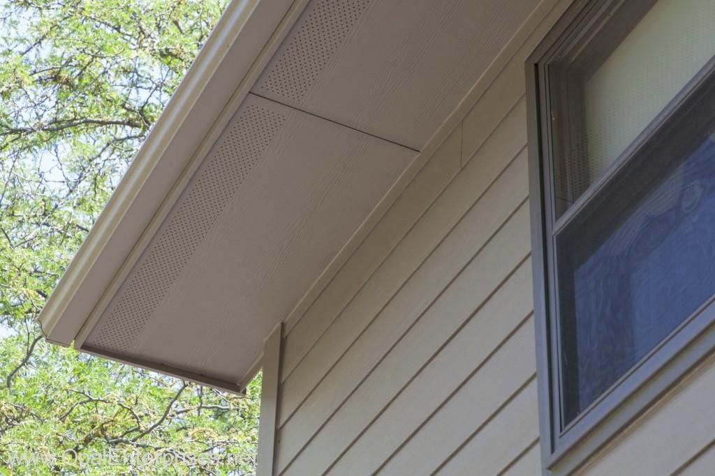 House With James Har Khaki Brown Siding Matching Soffit