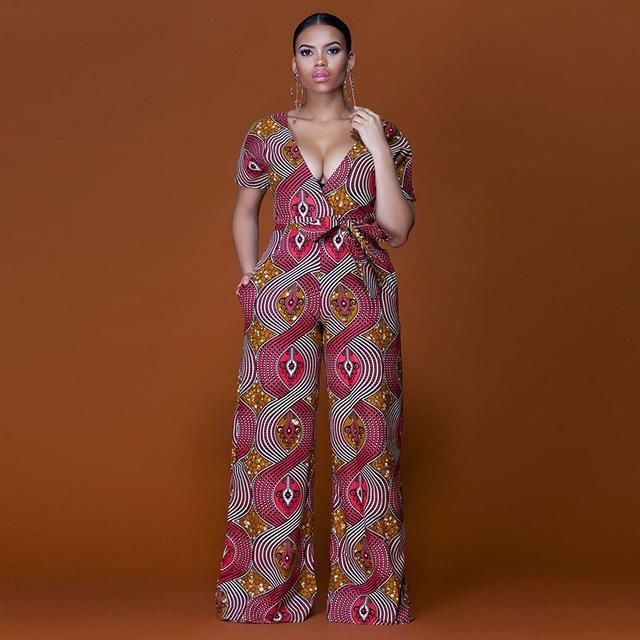 1cd6c8f5b06 African dashiki wide leg flare trousers jumpsuit