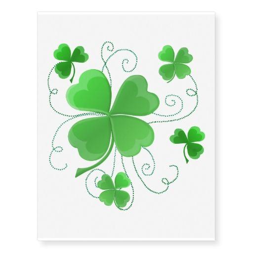 Henna Tattoo Kits Ireland: Frilly Shamrocks Temporary Tattoos