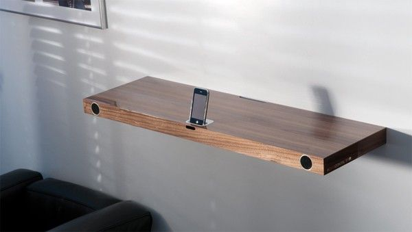 Wall Mounted Ipod Dock With Speakers