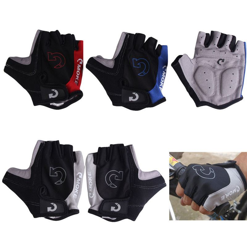 Cycling Gloves Half Finger Anti Slip Gel Pad Breathable Motorcycle MTB Mountain