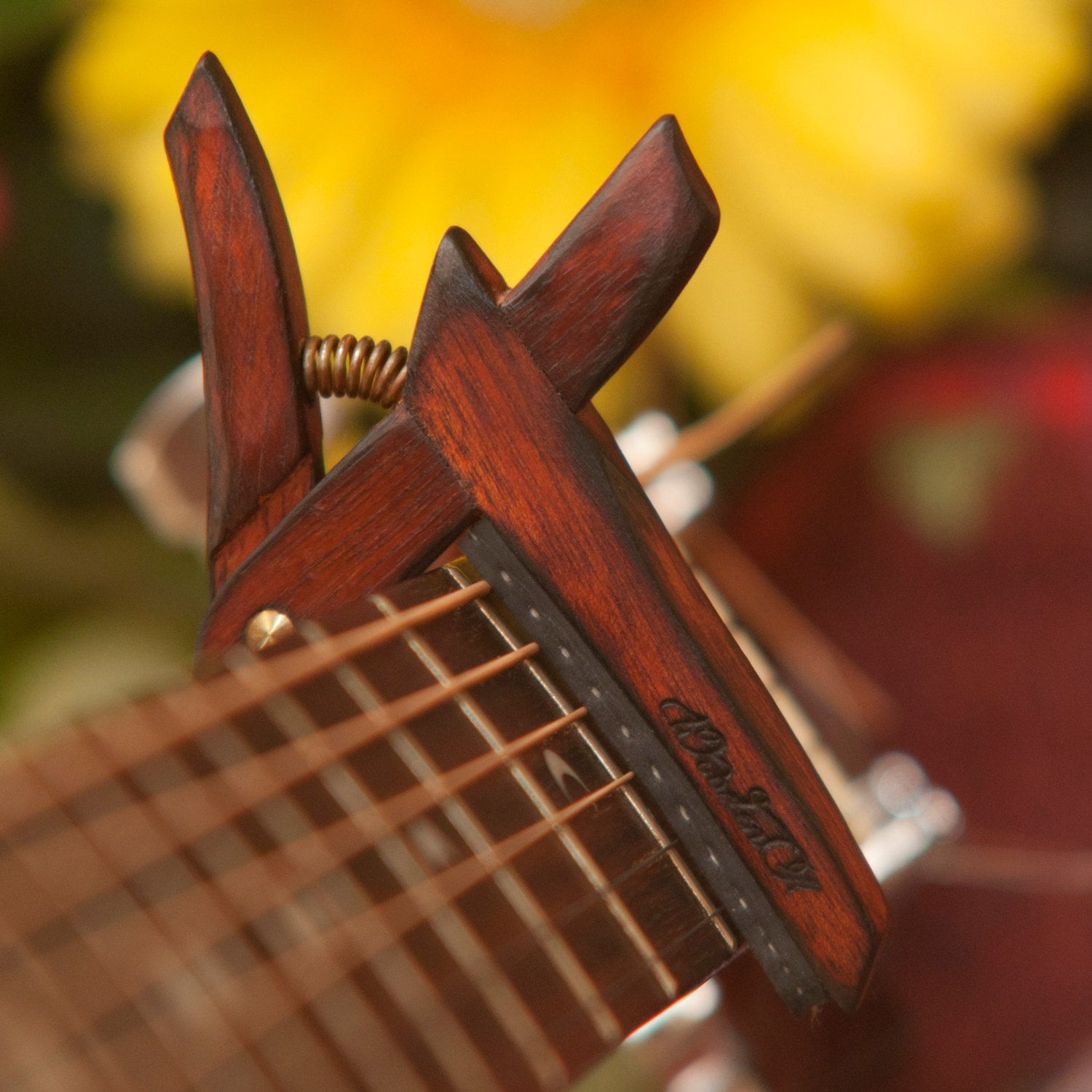Wooden Guitar Capo Flamed Bloodwood Woodenk Steel Classical Guitar Capo Capos Learn Piano