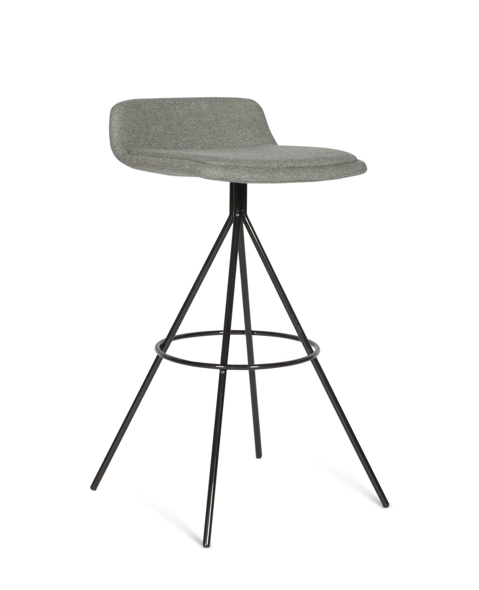 Kiara bar stool in black powder coat