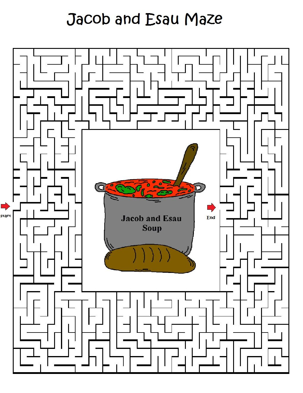 Jacob and Esau Maze.jpg 1,019×1,319 pixels | Sunday School ...