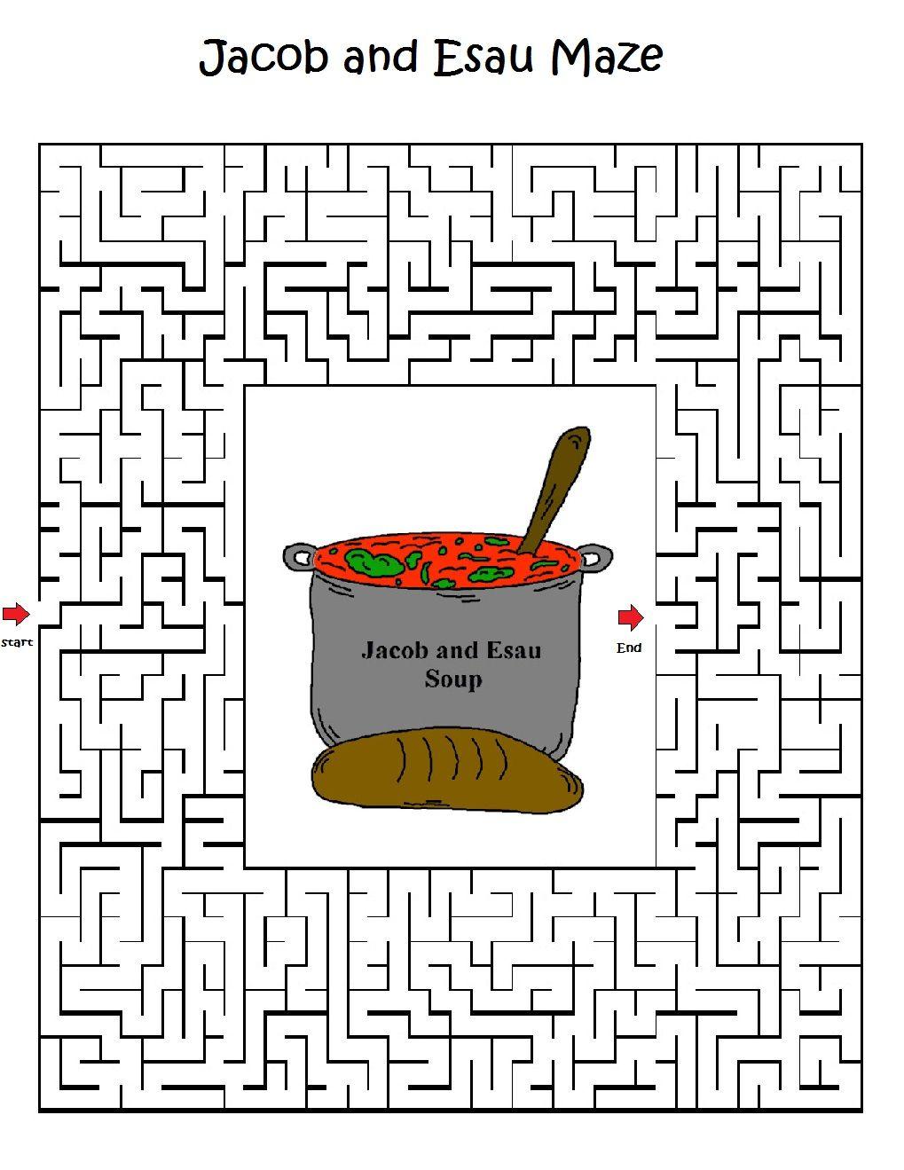 jacob and esau maze jpg 1 019 1 319 pixels sunday