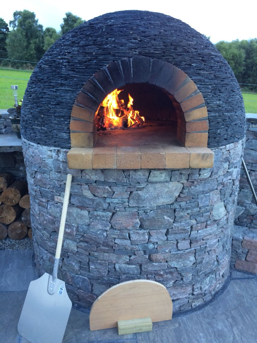 Pizza oven with slate roof, achilty stone, highlands of Scotland ...
