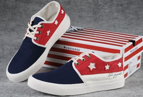 Commemorative Edition Converse American Flag Dark Blue Red White All Star  David Beckham Signature Canvas Skate