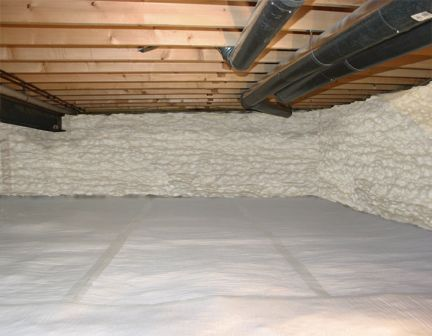 How To Insulate A Crawl Space Crawl Space Insulation Crawlspace Home Insulation