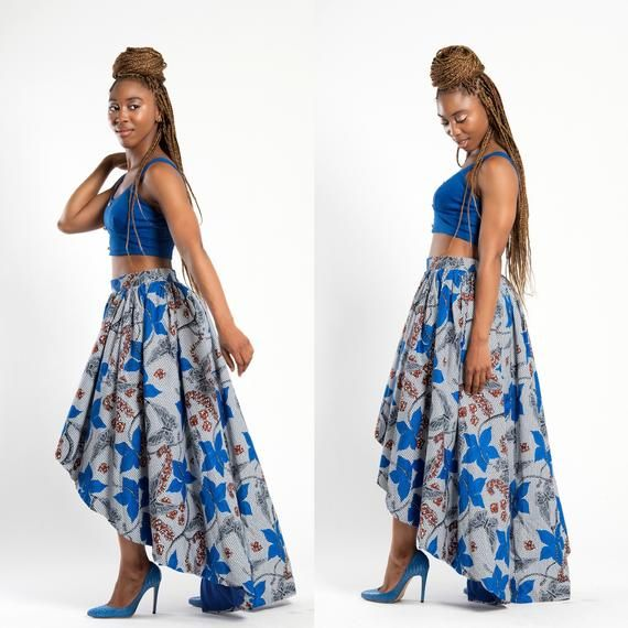 Hi Low africaine imprimer jupe / jupe imprimé africain / Hi low jupe / jupe Ankara / disponible dans 4 impressions