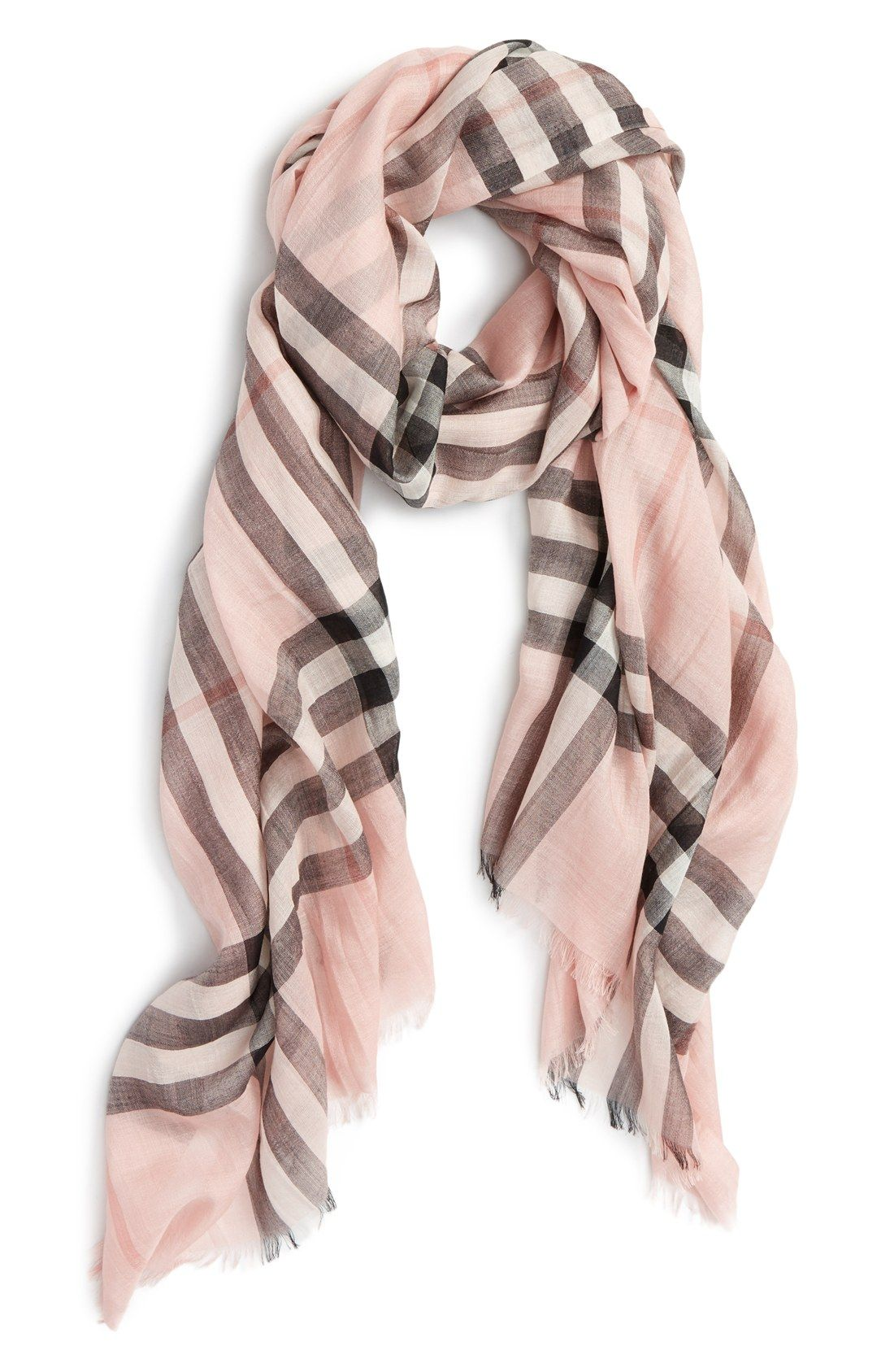 Burberry Giant Check Print Wool   Silk Scarf Cravate, Mode Automne Hiver,  Écharpe En ee2004b22c5
