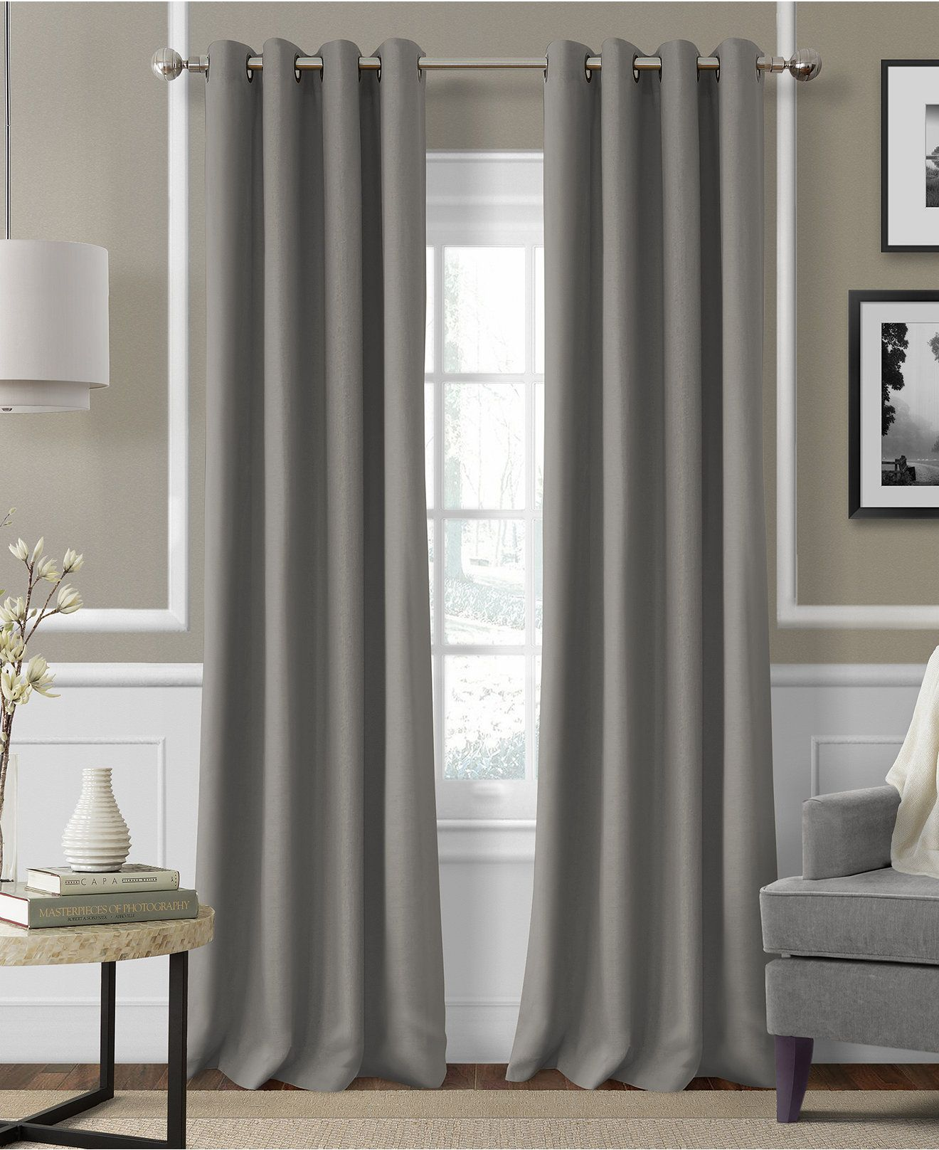 Linen window treatments - Elrene Essex Grommet Linen 50 X 95 Panel Window Panelscurtain