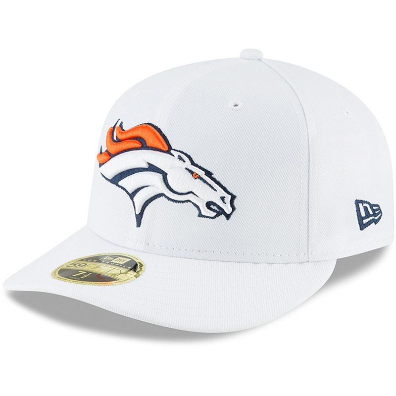 d823a3fb8 Denver Broncos New Era Omaha Low Profile 59FIFTY Fitted Hat - White ...