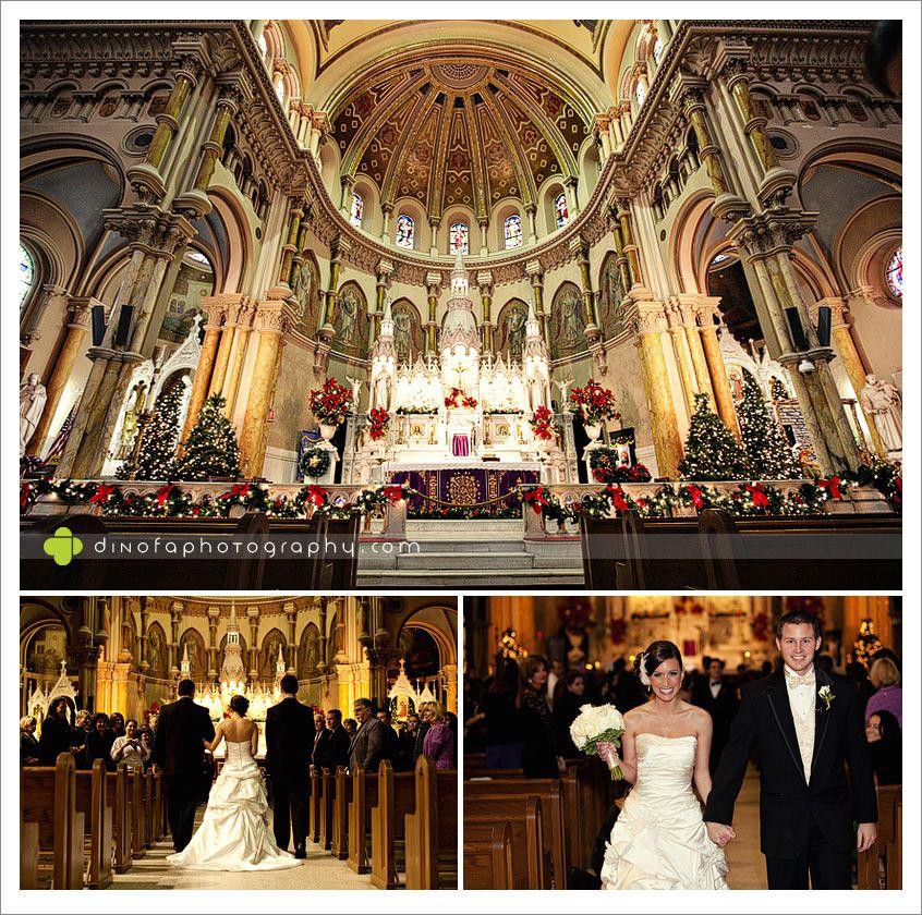 saint nicks wedding ac christmas style atlantic city wedding danielledave