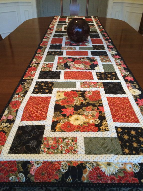 Japanese Quilted Table Runner By Jkonopacz On Etsy Table