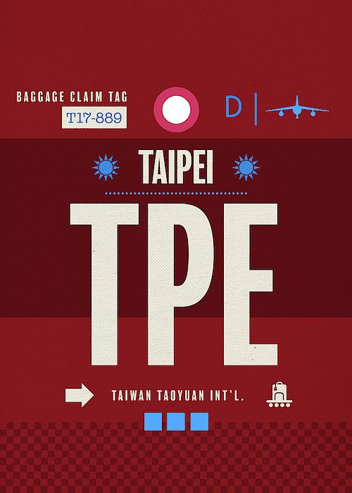 taipei tpe taiwan airport code baggage claim luggage tag