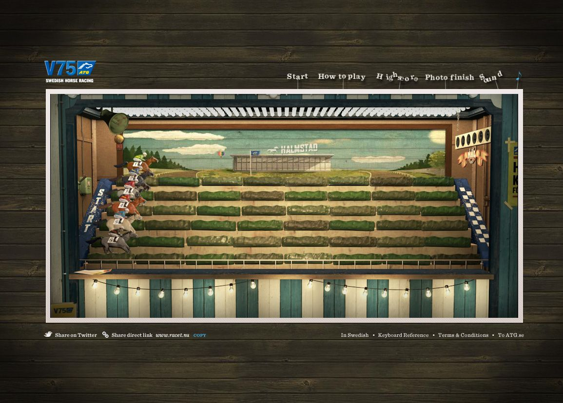 Atg swedish horse racing the race creative ads inspiration old style in an augmented reality game falaconquin