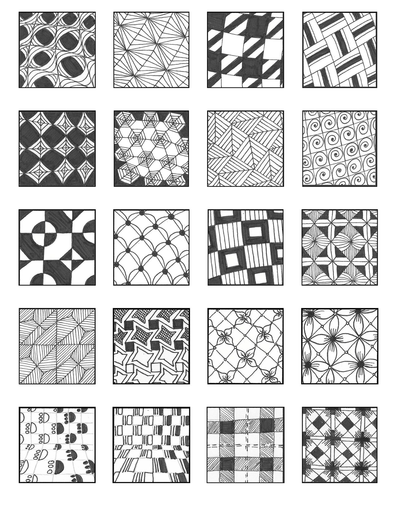 Free Download Grid Style Pattern Sheets