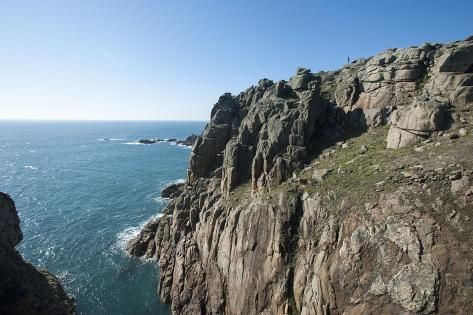 Photographic Print: Rugged Cornish coastline near Land's End, westernmost part of British Isles, Cornwall, England by Alex Treadway : 24x16in #britishisles