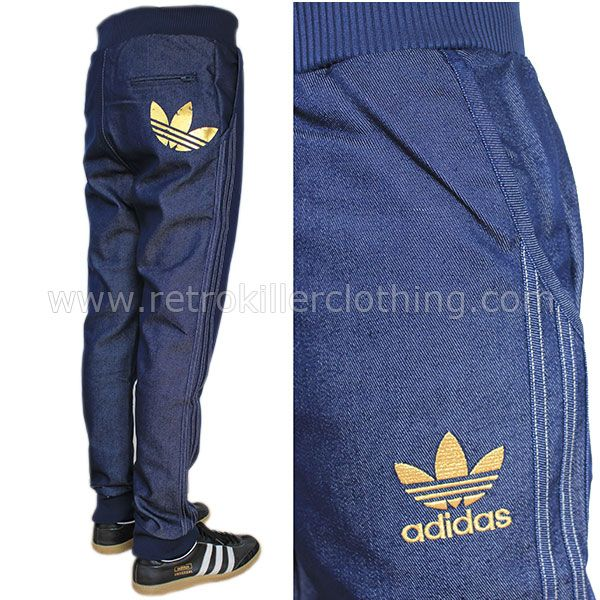 a86226e9aed8c Denim Blue Jeans Tracksuit Bottoms Pants Joggers Mens O53254 cakepins.com